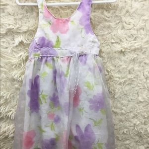 Other - 24m little Lindsey white Floral Dress w/shorts